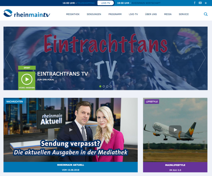 rheinmaintv-Website, Relaunch by PSM&W