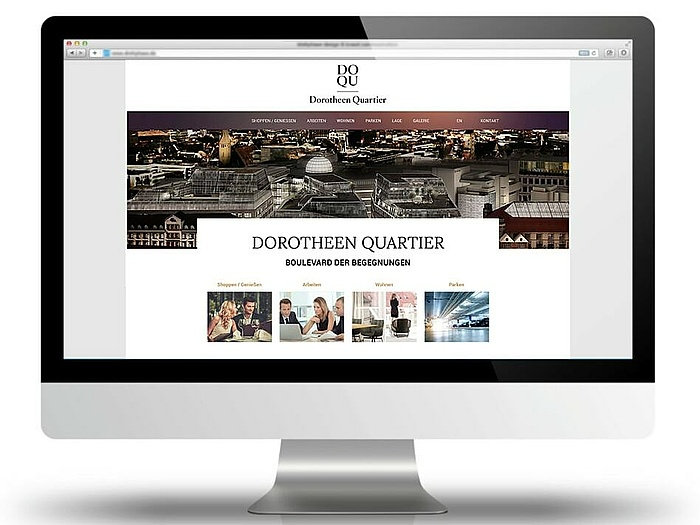 Dorotheen Quartier website by PSM&W
